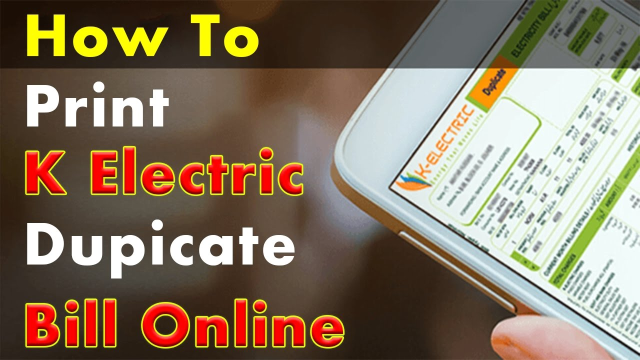 Image result for K-Electric Duplicate Electricity Bill Online