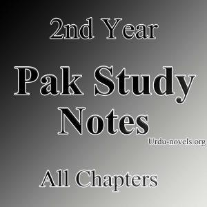 2nd year Pak study